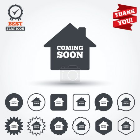 Homepage coming soon icons