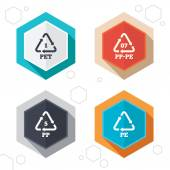 PET PP-pe and PP Polyethylene terephthalate