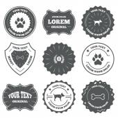 Pets icons Cat paw with clutches