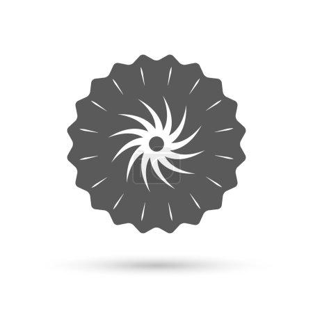 Saw circular wheel sign icon.