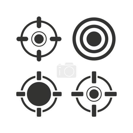 Crosshair icons. Target aim signs