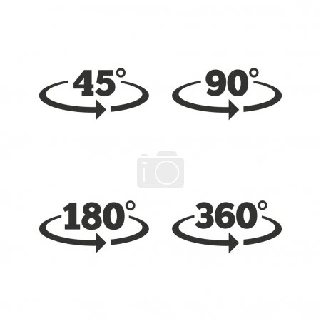Angle degrees icons.