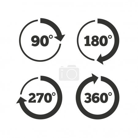 Angle degrees circle icons