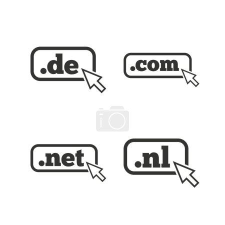 Signos de dominios de nivel superior .