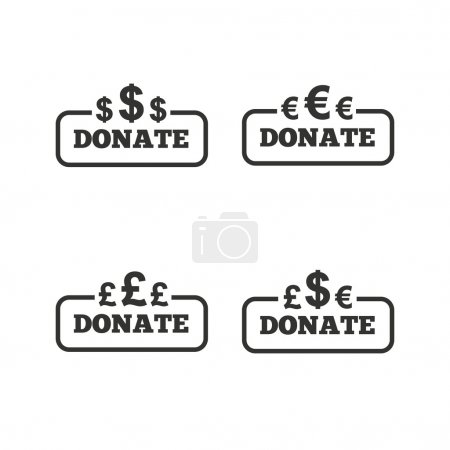 Donate money signs.