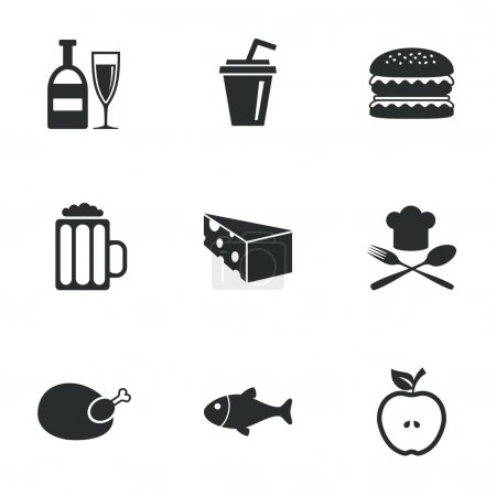 Food, drink icons.