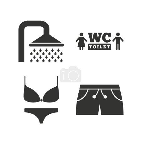 Swimming pool icons.