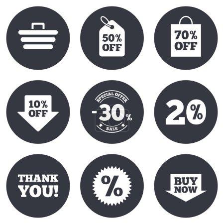 Sale discounts icons