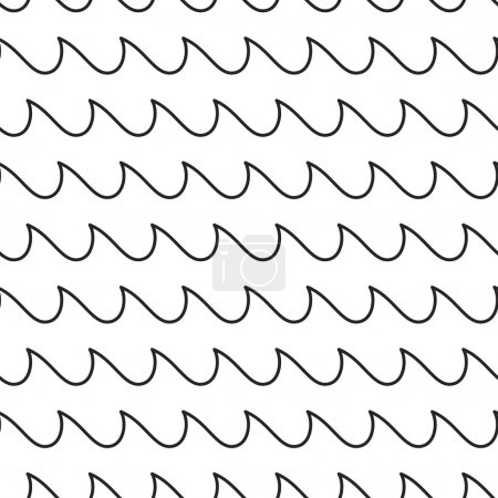 Waves stripped geometric seamless pattern.
