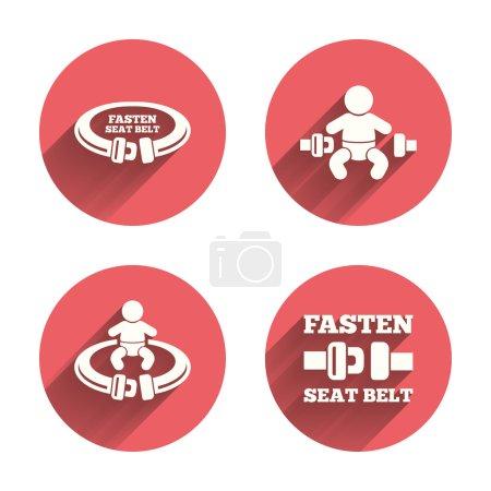Fasten seat belt signs.