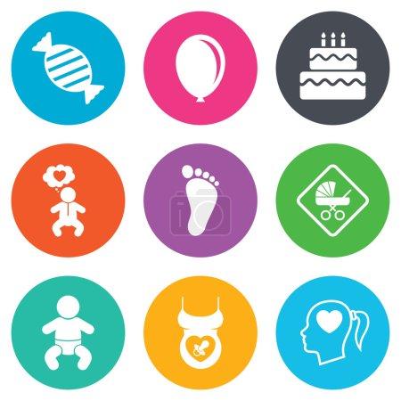 Icônes de soins grossesse, maternité et bébé