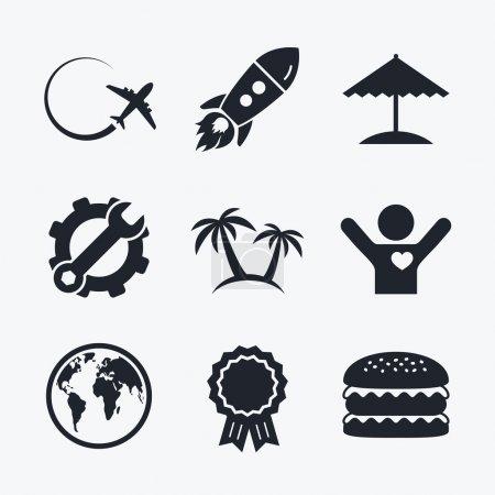 Travel trip icons