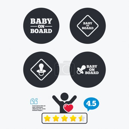Baby on board icons.