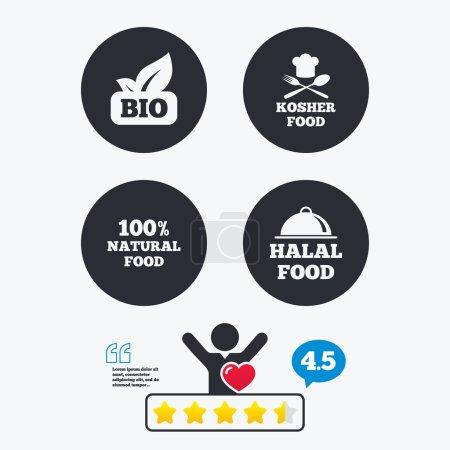 Natural Bio food icons.