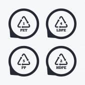 PET Ld-pe and PP Polyethylene terephthalate