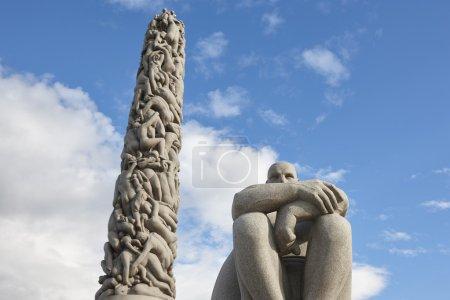 Photo pour Norvège, Oslo. Des sculptures en pierre du parc Vigeland. Tourisme de voyage. Horizontal - image libre de droit