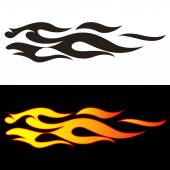 Tribal flames illustration for car decal or stickers