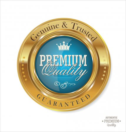 Illustration for Premium quality labels - Royalty Free Image