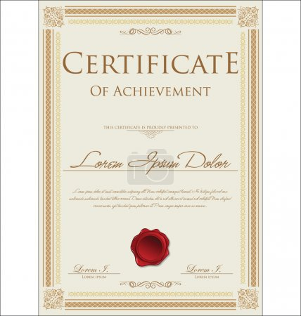 Illustration for Certificate template - Royalty Free Image