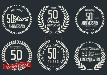 Anniversary laurel wreath design