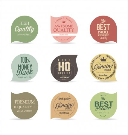 Colorful Modern badges