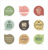 Colorful Modern badges collection