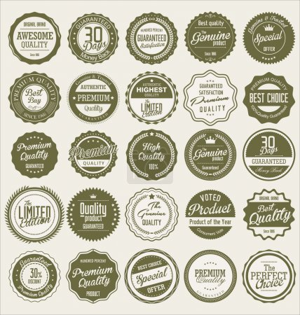 Premium quality retro labels collection...