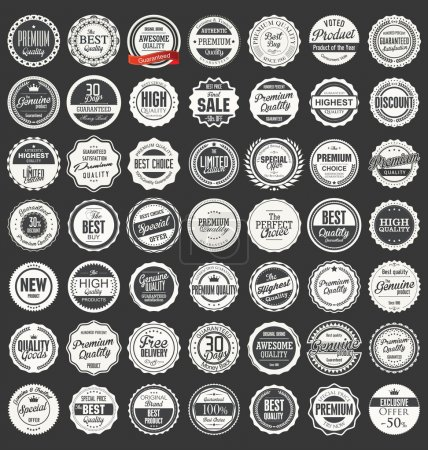 Premium, quality retro vintage labels collection...
