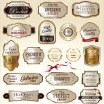 Set of Premium quality golden labels...