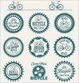 Bicycle badges and labels collection