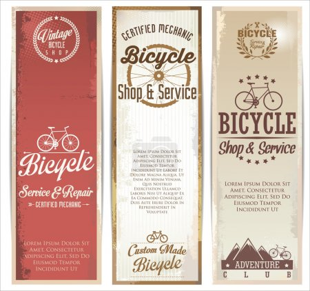Vintage bicycles poster