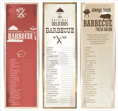 Vintage barbecue poster