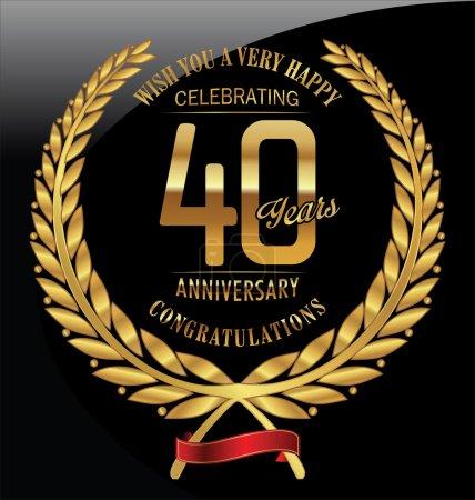Anniversary golden laurel wreath 40 years