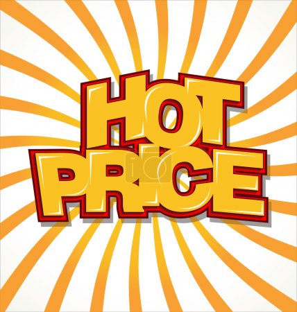 Hot price retro background...