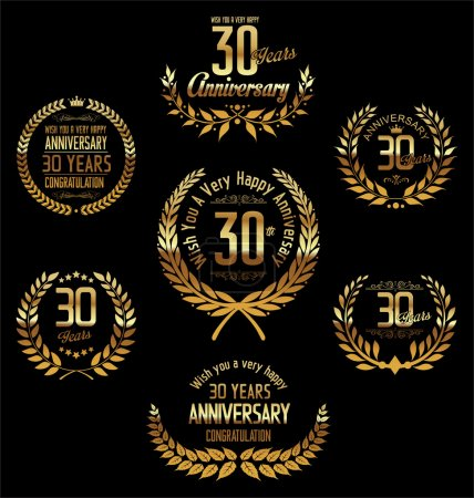 Illustration for Anniversary laurel wreath 30 years - Royalty Free Image