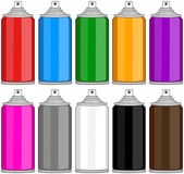 Color Spray Cans In Various Colours
