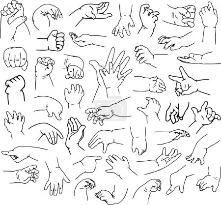 Baby Hands Pack Lineart