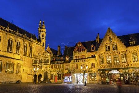 Burg Square in Burges in Belgium