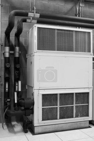 Photo pour Construction de la climatisation - image libre de droit