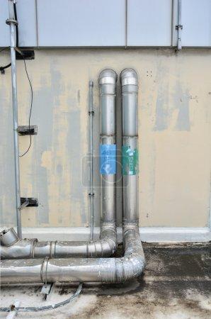 Photo pour Système d'évacuation Industrie de la construction - image libre de droit