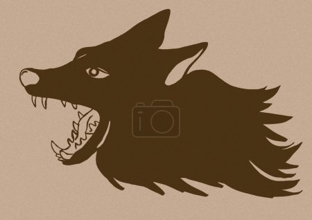 Vintage image of a wolf