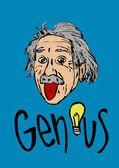 Albert Einstein bigmouth