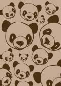 Panda pattern vintage