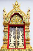 Kostelní okno v Thajsku chrám