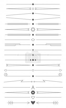 Illustration for Vector set of simple design elements and page decor - Royalty Free Image