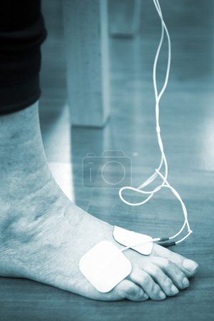 Patient foot ankle leg physiotherapy treatment