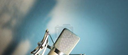Audio recording vocal studio voice microphone with...