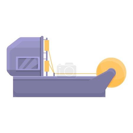 Illustration pour Icône de ligne d'usine de fil. Dessin animé de l'icône vectorielle de ligne d'usine de fil pour la conception Web isolé sur fond blanc - image libre de droit