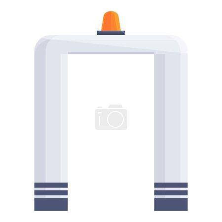 Illustration pour Porte de contrôle de l'aéroport icône. Dessin animé de l'icône vectorielle de porte de contrôle de l'aéroport pour la conception Web isolé sur fond blanc - image libre de droit