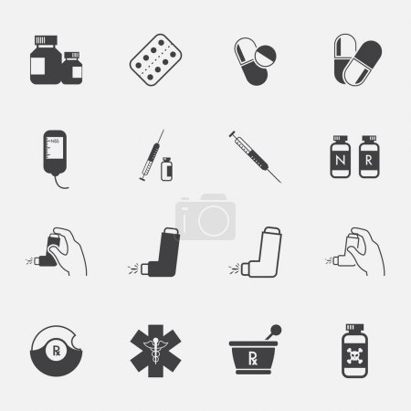 Pharmacy Icons and Medical Icons set....